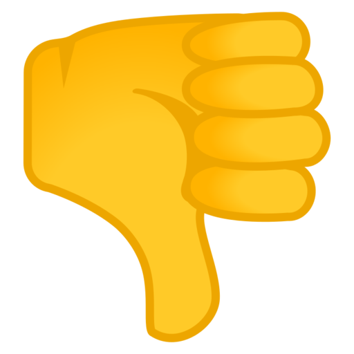Thumbs down emoji png. Google android pie