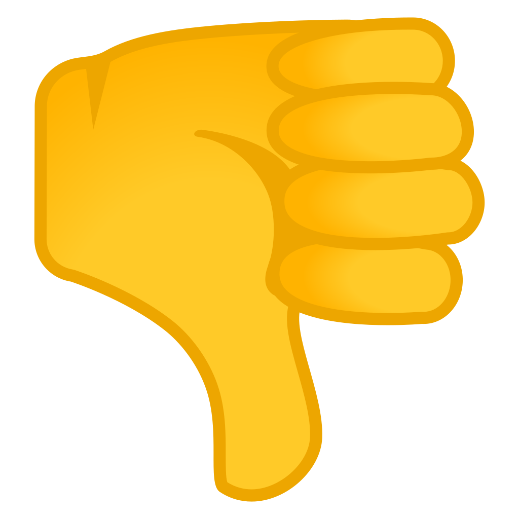 Thumbs down emoji png. Icon noto people bodyparts