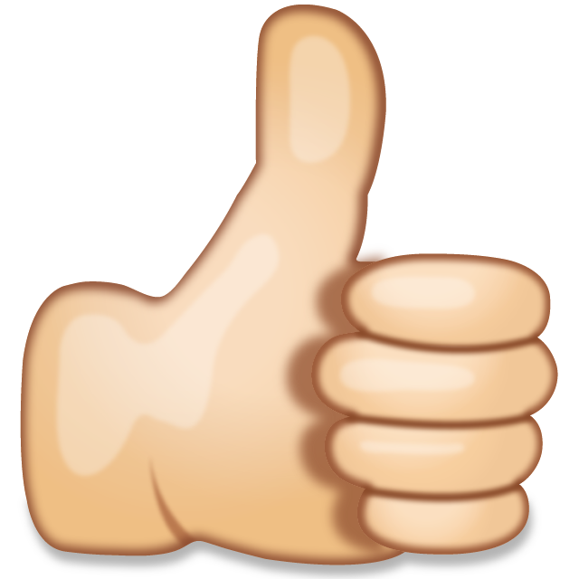 Thumbs up clipart png. Download hand sign emoji