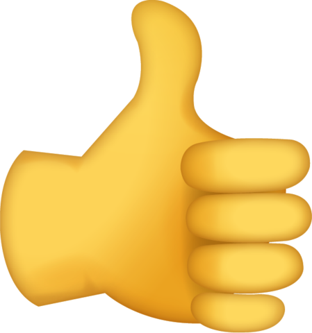 Thumbs up emoji png. Download sign iphone icon