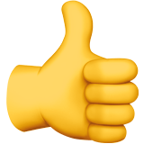 Thumbs up emoji png transparent. On apple ios