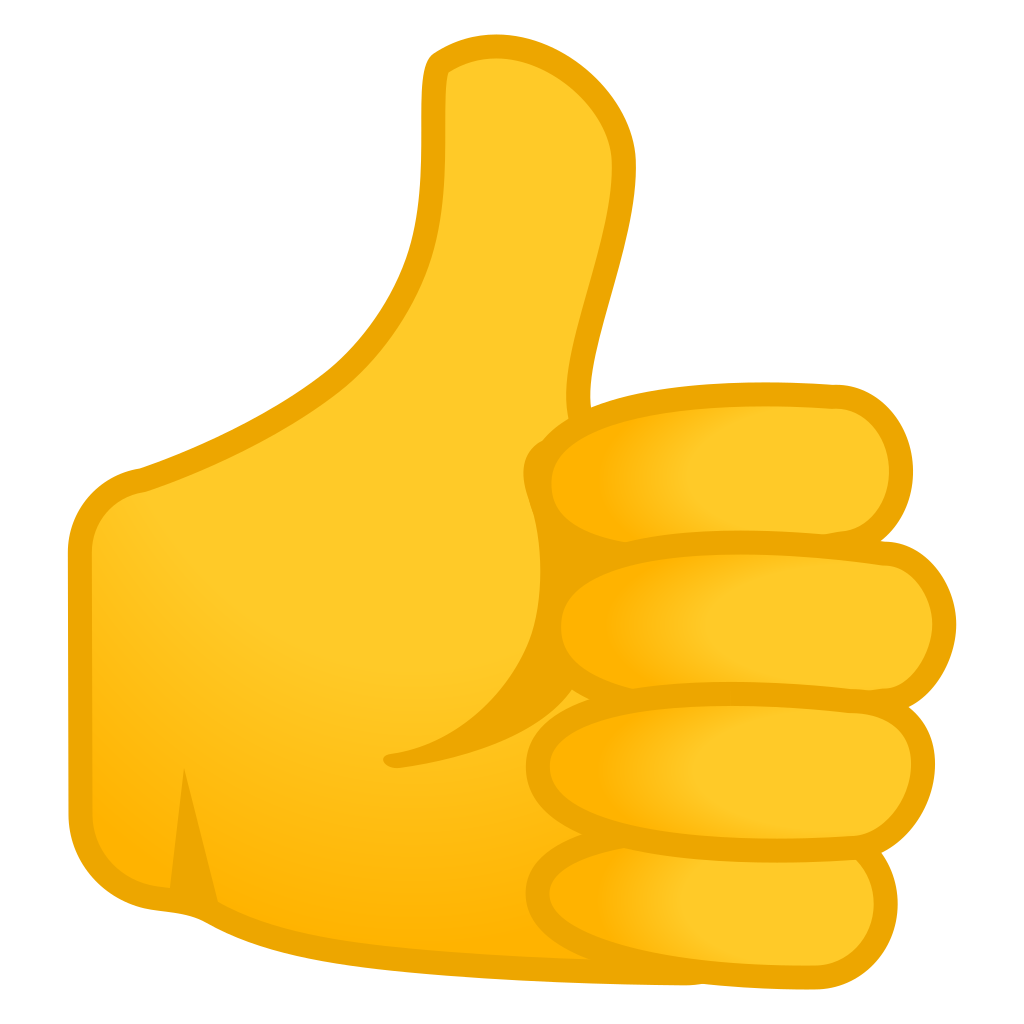 Thumbs up emoji png. Icon noto people bodyparts