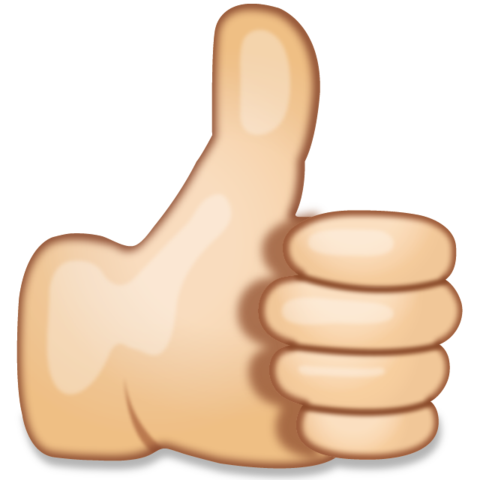 thumbs up emoji png