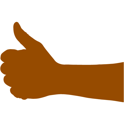 Thumbs up png emoji. Brown icon free hand