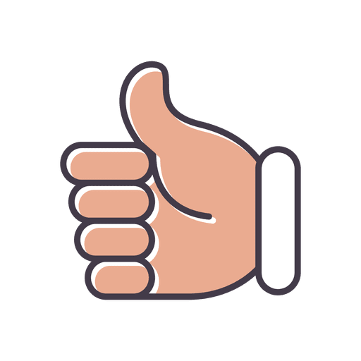 Thumbs up vector png. Hand icon transparent svg