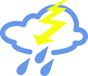 Thunder clipart bad weather. And lightning at getdrawings