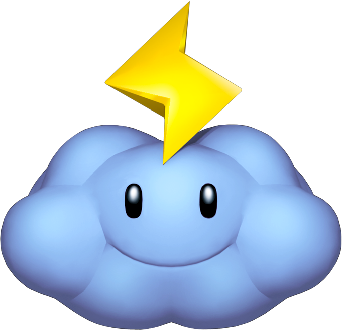 Thunderbolt transparent mario kart. Image thunder cloud png
