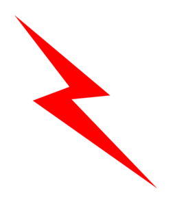Lightning bolt clipart red. Lighting panda free images