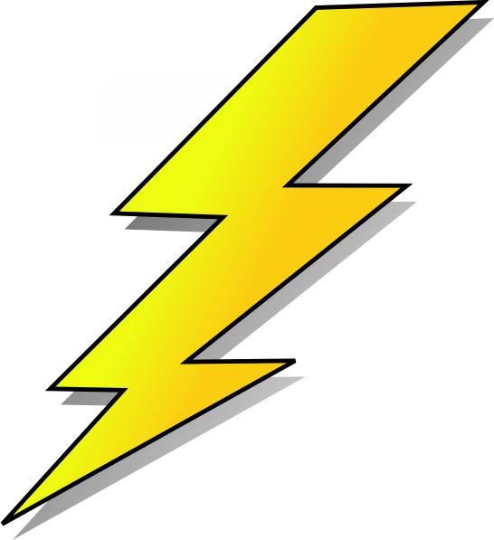 Thunderbolt drawing cartoon. Collection of lightning