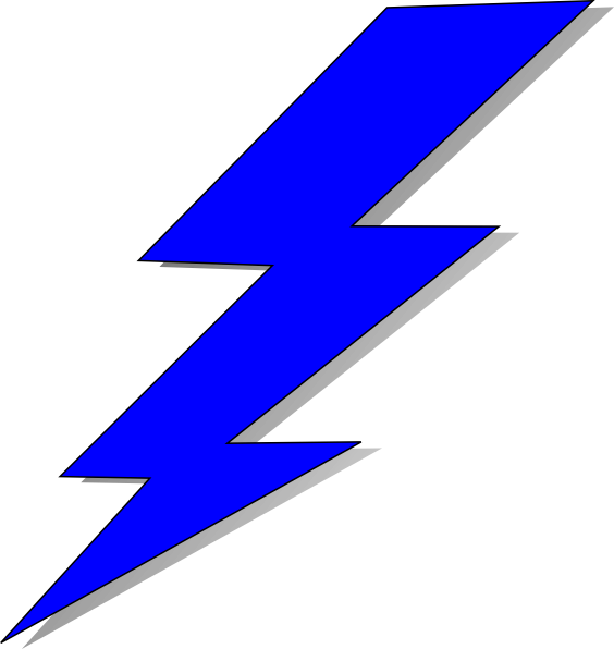 Thunderbolt drawing clipart. Image freeuse huge