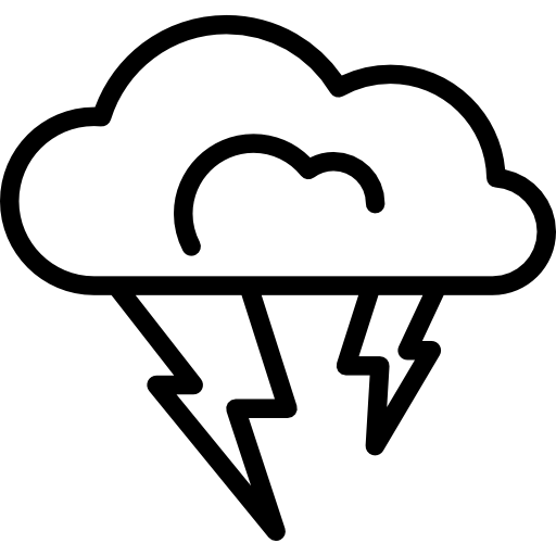 Thunderbolt drawing cloud. Thunder weather icon similar