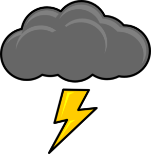 Thunderbolt drawing cloud. Collection of free lightning