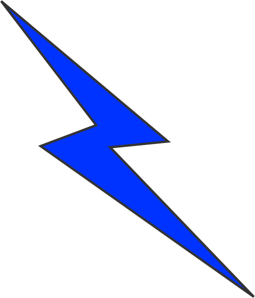 Vector effect lightning. Collection of free drawing