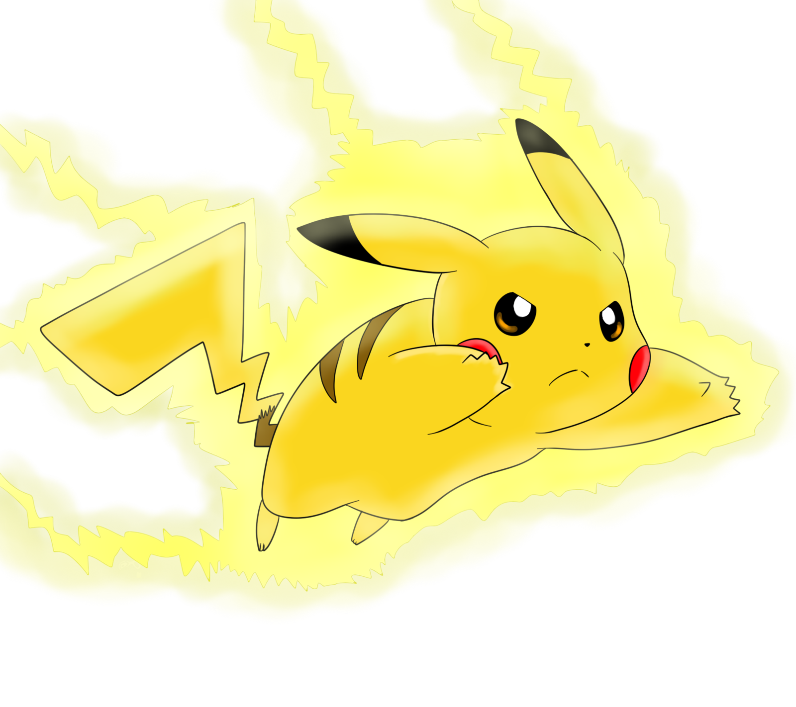 Thunderbolt drawing pikachu. Go by nicodiver on