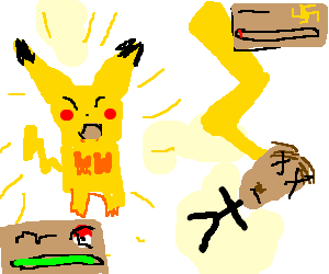 Thunderbolt drawing pikachu. Used enemy hitler fainted