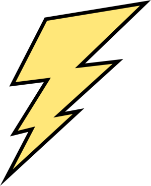 Thunderbolt drawing yellow. Collection of free lightning