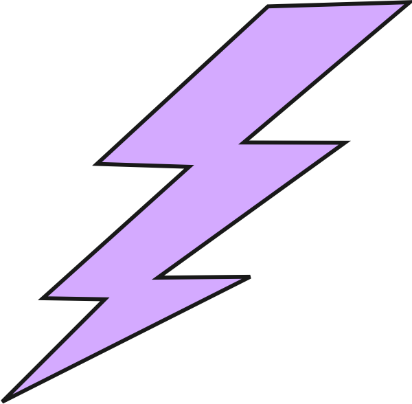 Lightning bolt png purple. Thunderbolt image freeuse