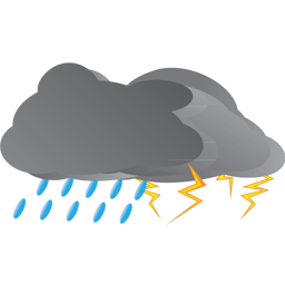 Thunderstorm clipart. Rain and icon png