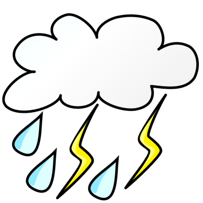 Free . Thunderstorm clipart banner royalty free