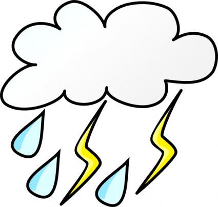 Thunderstorm clipart animated. Thunder and lightning at