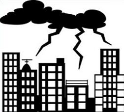 Thunderstorm clipart black and white. Free