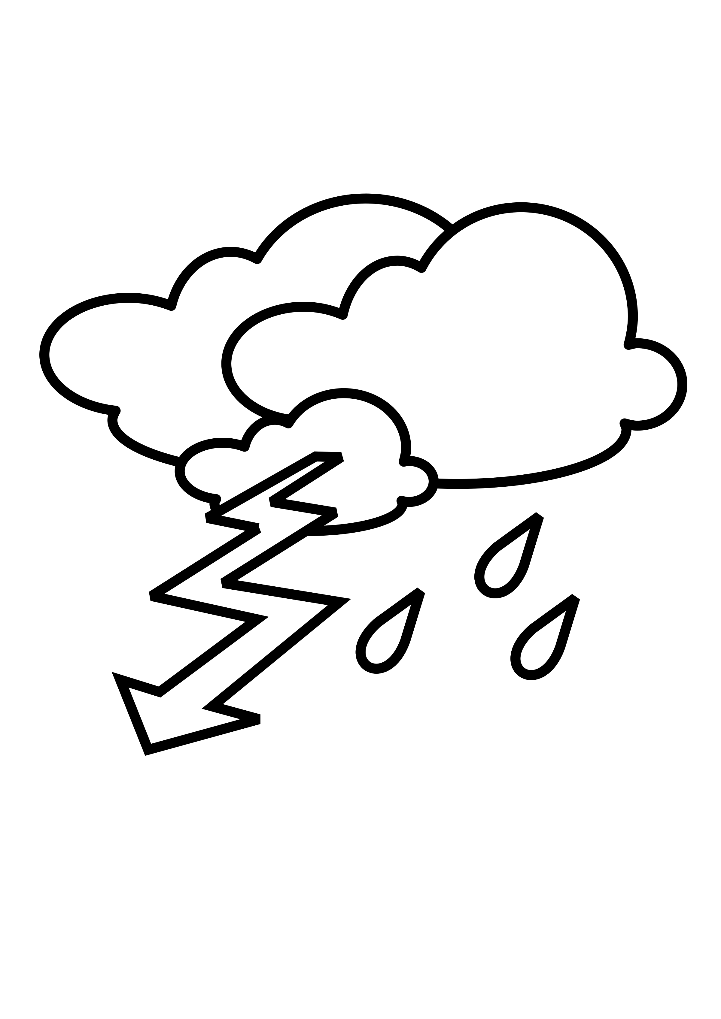 Thunderstorm clipart black and white. Stormy outline big image