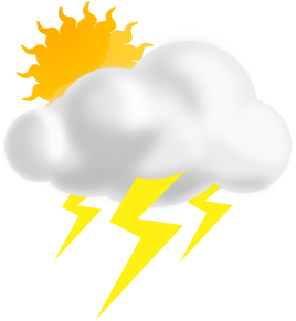 Thunderstorm clipart thunderstorm weather. Partly sunny w thunderstorms