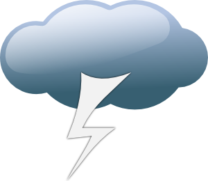 Thunderstorm clipart thunderstorm weather. Symbols clip art at