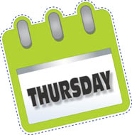 Thursday clipart tuesday calendar. Free clip art pictures