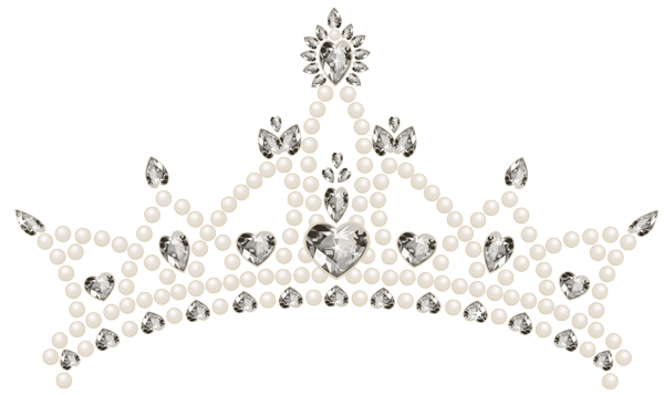 Tiara clipart. With hearts transparent png