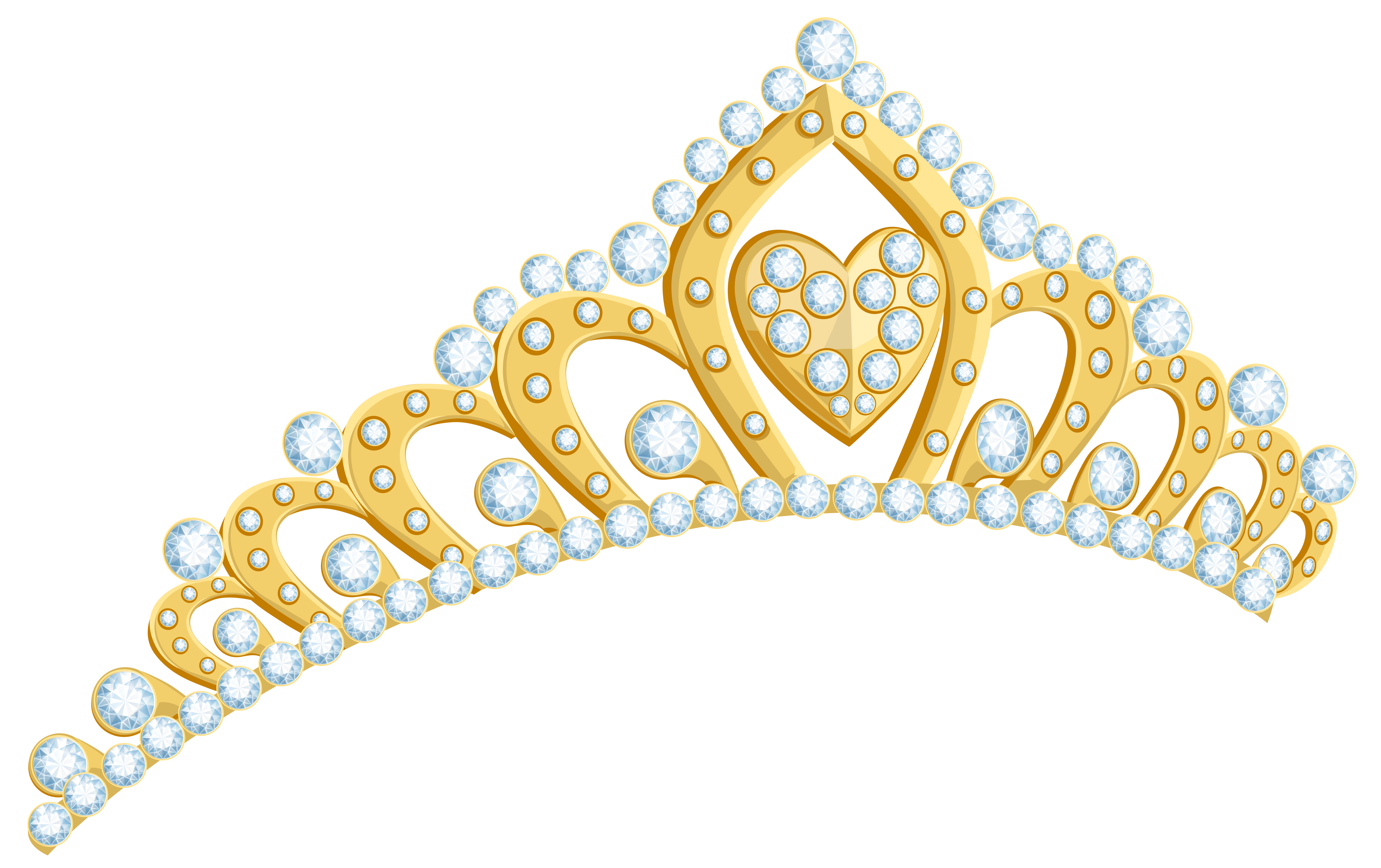 Crown clip pearl. Golden tiara png clipart