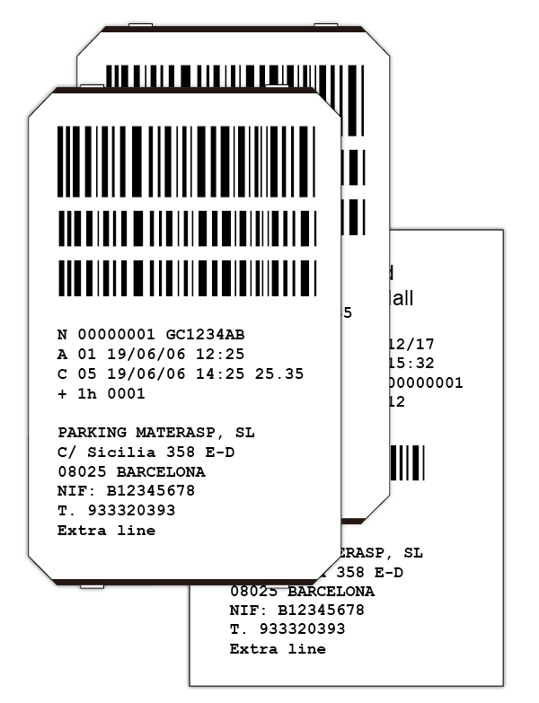 Ticket barcode png. Parktron parking management system