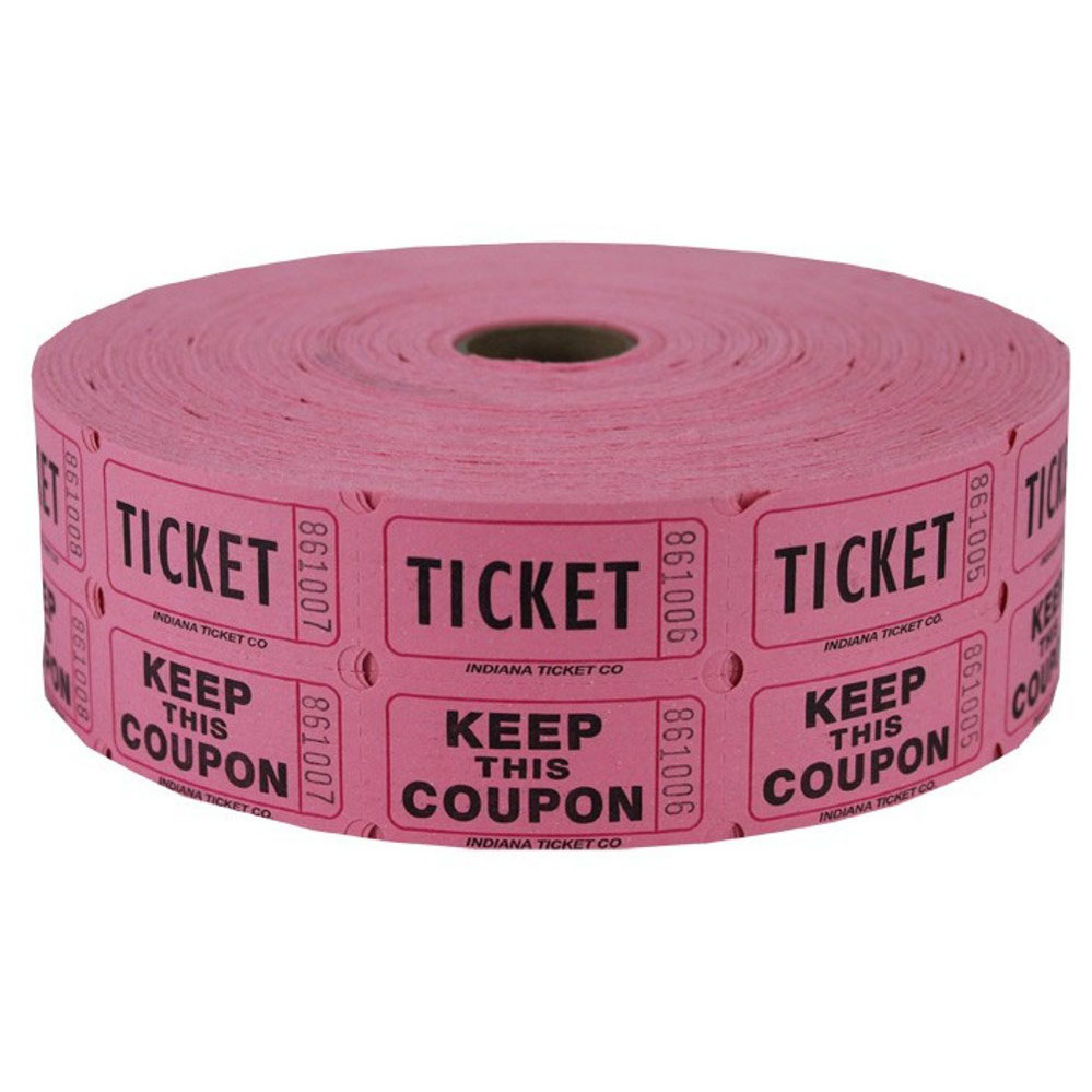 Ticket clipart roll ticket. Pink double raffle