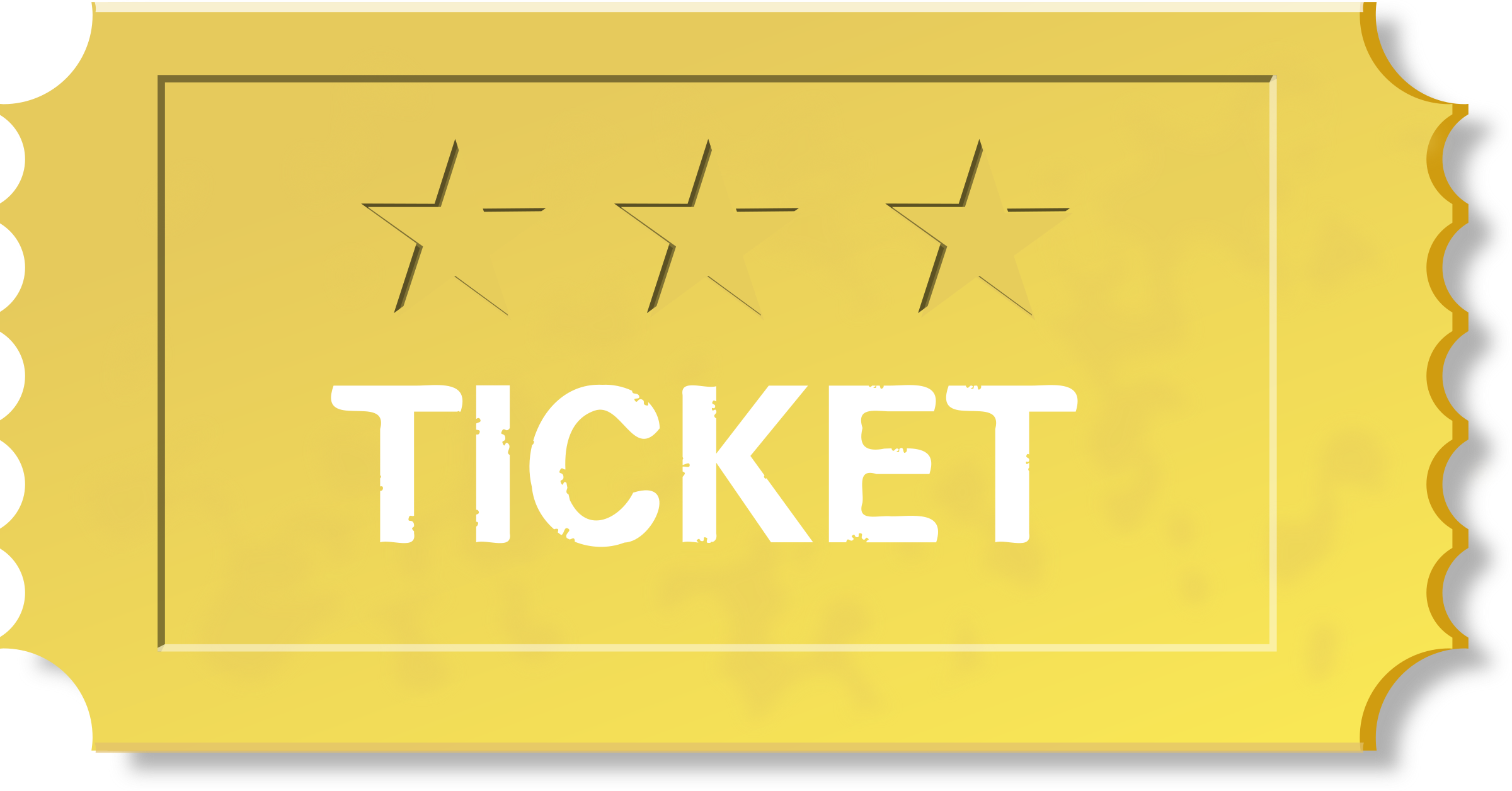 Ticket clipart yellow. Big image png