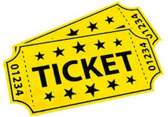 tickets clipart