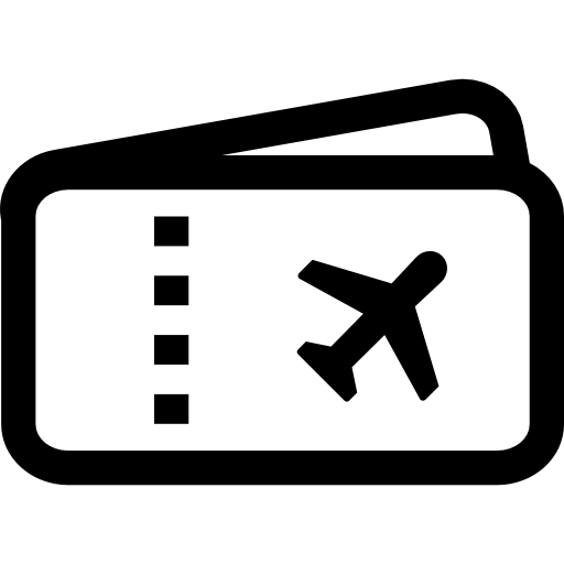 Airplane clip flight ticket. Icon page png svg
