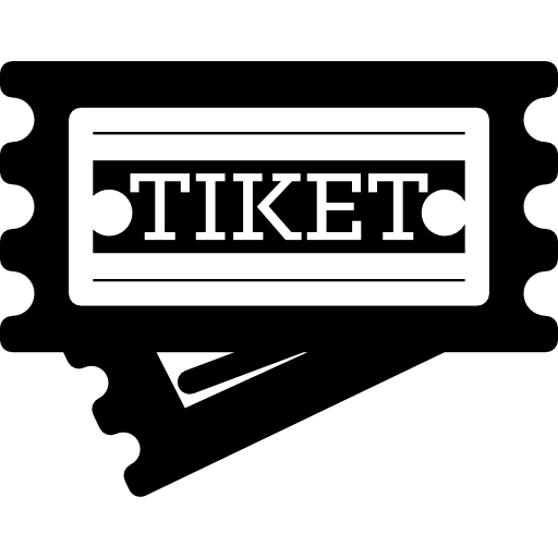 Ticket svg black and white. Icon page png
