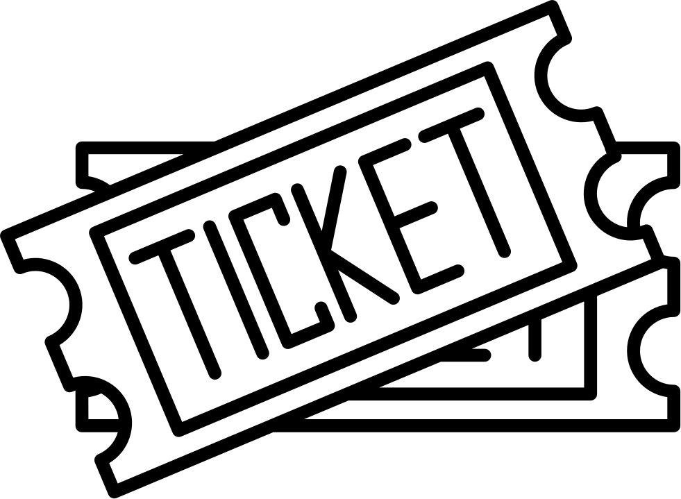 Ticket svg two. Tickets png icon free