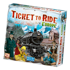 Ticket to ride logo png. Europe a board game