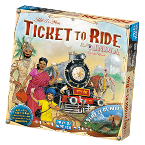 Ticket to ride logo png. India a board game
