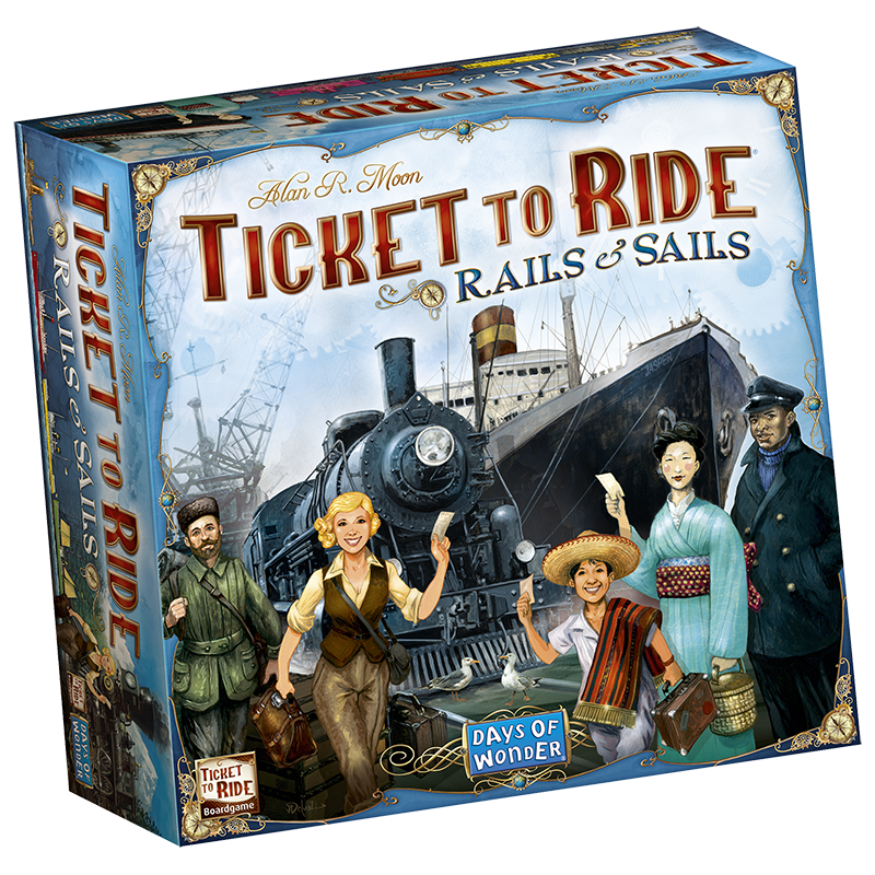 Ticket to ride logo png. Rails and sails gamesquest