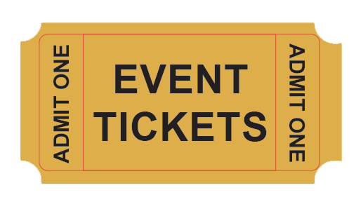 Ticket vector png. Wagner s lanes events