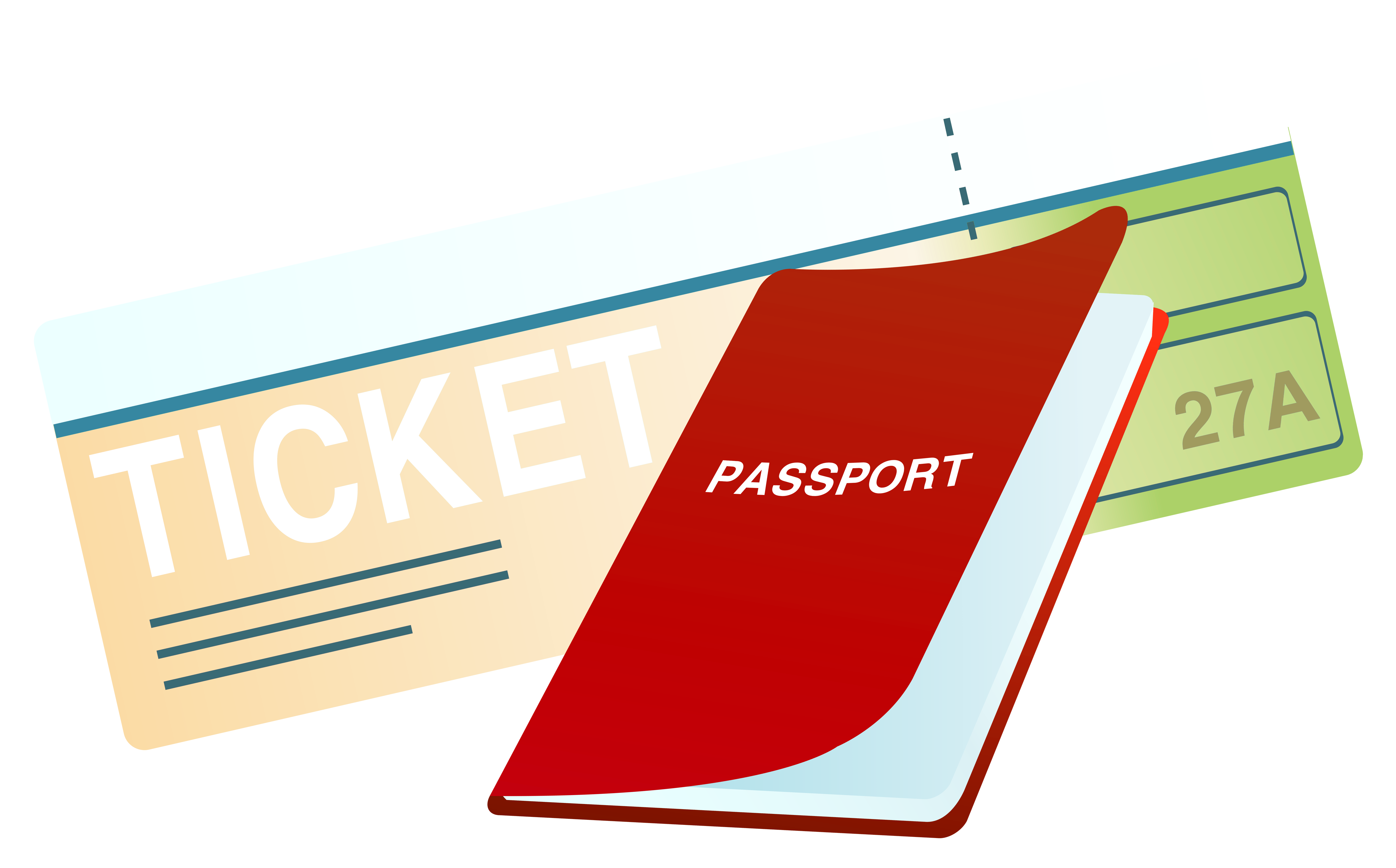 Ticket and png image. Passport clipart png library stock