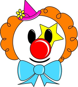 Bows clipart clown. Circus image colorful with