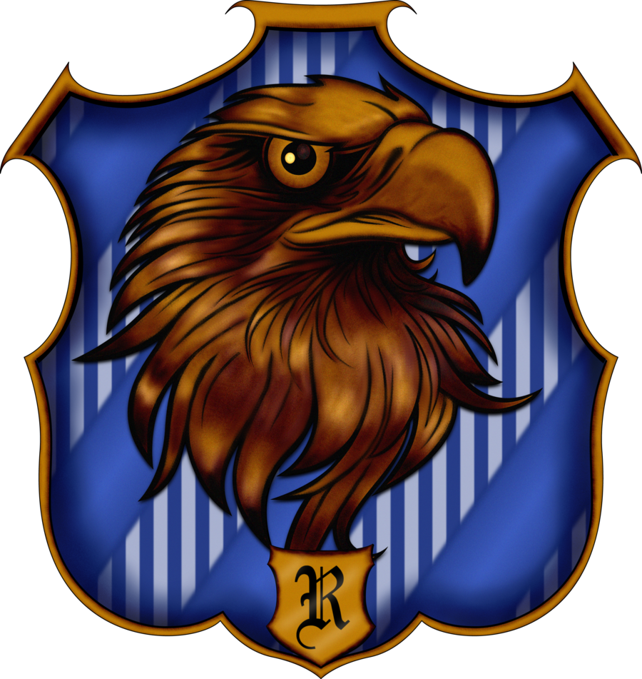 Crest by witcheewoman deviantart. Tie clipart ravenclaw clipart black and white