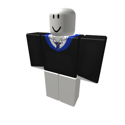 Tie clipart ravenclaw. Robes top roblox