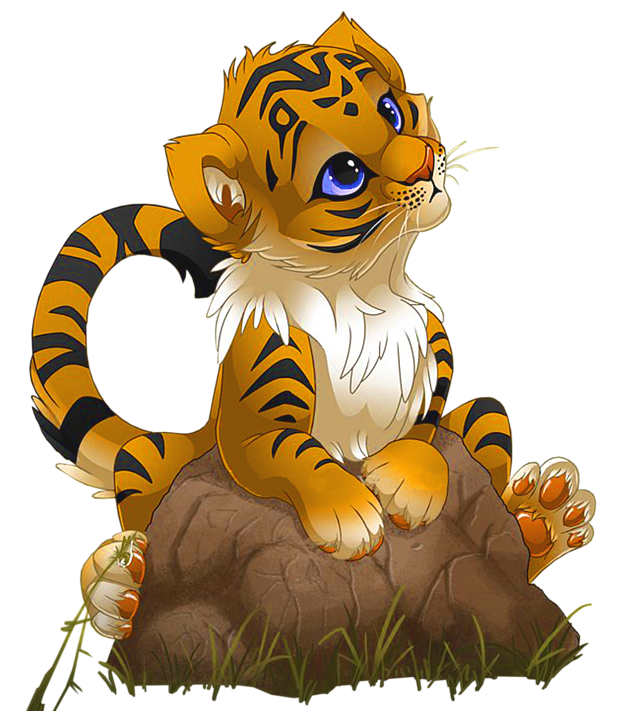 Tiger cartoon png. Cute little gallery yopriceville