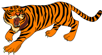 Tiger clipart. Public domain