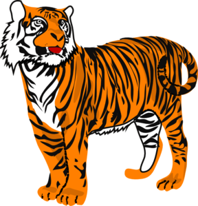 Tiger clipart animated.