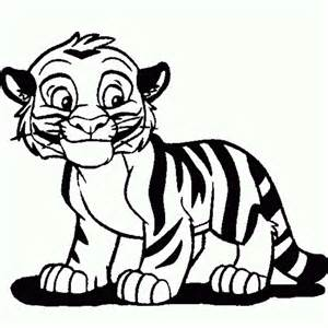 Tiger clipart kid. Animated colouring bell cute